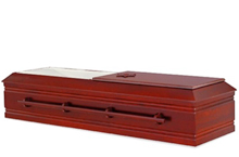 Ophel Casket, Poplar Veneer Traditional Construction Satin Antique Mahogany Finish, Moselle Crepe Interior